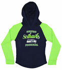 OuterStuff NFL Youth Girls Long Sleeve Hooded Shirt, Seattle Seahawks $17.5 USD on eBay