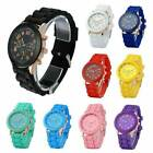 Colorful Men Women Unisex Silicone Jelly Quartz Analog Sports Wrist Watch USA image