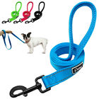 Nylon Reflective Dog Lead Leash Mesh Padded Handle Blue Black Small Medium Large
