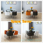 Space Saver Modern Glass Dining Table and 4 Chairs Set Kitchen Dining Room Cafe for sale  United Kingdom
