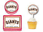 San Francisco Giants Edible Birthday Party Decoration Cake Topper Cupcake Picks on Ebay