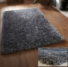 SMALL - X LARGE THICK DENSE CHUNKY LONG PILE GREY MIX SOFT SHAGGY DEVINE RUG