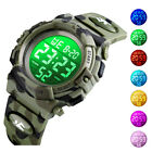 Kids Sports Digital Watch 7-Color LED Camo Waterproof Watches Gift for Boys Girl image