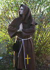 LARP/Medieval WASHABLE WOOL MONK CASSOCK with Rope Belt Outfit-All SIZES
