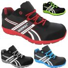 MENS ULTRA LIGHTWEIGHT GROUNDWORK SAFETY STEEL TOE CAP WORK PPE TRAINER SHOES SZ