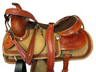 COMFY ROPING SADDLE TRAIL WESTERN HORSE 17 15 16 TOOLED LEATHER PLEASURE PACKAGE