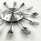 Modern Large Cutlery Wall Clock Fork & Spoon Kitchen Home Decoration 30cm Gift