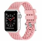 Breathable Silicone Sport Strap For A pple Watch Band iWatch 40mm 44mm 38mm 42mm