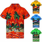 HAWAIIAN SHIRT MENS PALM TREE BEACH HOLIDAY PARROT FANCY DRESS STAG PARTY TOPS