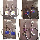 "NFL Team 2"" Crystal Bead Dangle Style Hoop Earrings - Pick Your Team on eBay"