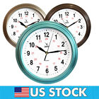 CAMY Wall Clock, 12 Inch Quality Quartz Battery Operated Round Easy to Read Home