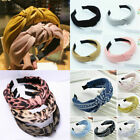 Women Fashion Headband Striped Bee Bow Knot Turban Hairband Hair Accessories