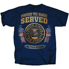 NEW NWT US Air Force Veteran Dual Sided T-Shirt, proud To Have Served image