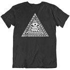 Illuminati Eyes T-shirt Mens Tee Pyramid HAztec Freemason Gift New From US