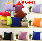 US Stock Plain Solid Throw Home Decor Pillow Case Bed Sofa Waist Cushion Cover 8 image
