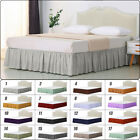 Soft Elastic Bed Ruffle Skirt Fit Wrap Around Twin Full Queen King Bed Skirt image