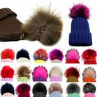 DIY Women Faux Raccoon Fur Pom Poms Ball for Knitting Beanie Hat Accessories A