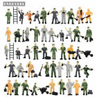 P8710 50 OR 100pcs 1:87 Well Painted Figures Workers HO Scale