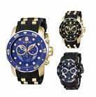 Invicta Men's Pro Diver Chrono Stainless Steel/Black Silicone Watch 6981/6983 image