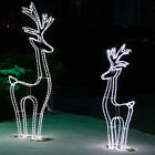 LED Lighted Reindeer Outdoor Commercial Christmas Yard Deer Decorations, 4 Sizes