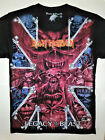 IRON MAIDEN T-Shirt RARE Embroidered Logo Legacy Bruce Dickinson Number Beast image