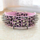 Brown Leather Large Dog Collar Spiked Studded Dog Collar for Pit Bull Terrier
