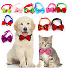 10pcs Christmas Halloween Dog Cat Accessories Bow Tie Necktie Collar for Holiday