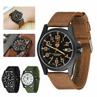 Boy Men's Military Army Sport Quartz Date Luminous Nylon Strap Wrist Band Watch image