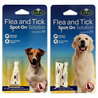 Dog/Puppy Flea & Tick Spot-On Solution Drops Kills Fleas Ticks 4 Week Control