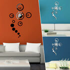 Modern DIY Chic Big Wall Clock 3D Mirror Surface Sticker Home House Decor Art US