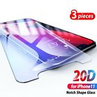 For iPhone 11 Pro Max X Xr XS 20D 3PS Full Tempered Glass Protective Screen Film