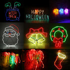 Neon Sign Light LED Wall Light Visual Bar Lamp Home Room Xmas Halloween Decor gY