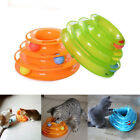 Pet Cat Crazy Ball Disk Interactive Toys Amusement Plate Trilaminar Funny Toy UK