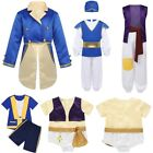 Kids Boys Arabian Prince Costumes Halloween Party Role Play Fancy Dress Suits