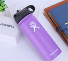 18/32/40OZ Hydro Flask Water Bottle Stainless Steel Wide Mouth Lid Straw Drink