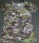 NWT MSRP $39 Womens Under Armour Fitted Camo Forest Tan Heat Gear T Shirt M Med