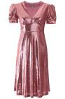 NEW Hvn sequins paula dress FW193008 Pink Sequins AUTHENTIC NWT