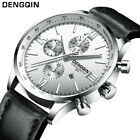 Men's Leather Military Army Analog Quartz Date Wrist Watch Business Watches Gift image
