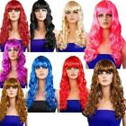 LONG WAVY STYLE FANCY DRESS WIG WITH FRINGE 9 COLOURS AVAILABLE