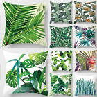 """New Leaf Cotton Linen Cushion Cover Throw Pillow Case Sofa Home Decoration 18"""" image"""