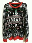 Ugly Christmas Sweater Mens Black Holiday Party Various Sizes NWT