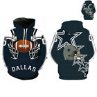 Dallas Cowboys Sport Winter Hoodies Sweatshirt Hooded Jumper Jacket Coat US $16.99 USD on eBay