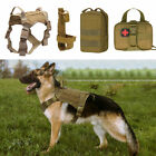 Tactical Service Dog Coat Adjustable K9 Military Patrol Dog Harness with Handle