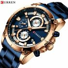 CURREN Watches Men Chronograph Quartz Wristwatch Stainless Steel Creative Disign image