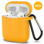 For AirPods Silicone Case + Keychain Protective Cover Skin For AirPod Case 2 & 1