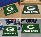 Green Bay Packers Man Cave Area Rug Choose Size $48.89 USD on eBay