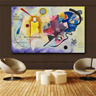 Kandinsky Abstract Famous Canvas Painting Red Yellow Blue Art Wall Picture