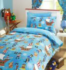 SEA PIRATES Kids Pirate Ship Fun Reversible Duvet Quilt Cover Set Bedding Range