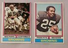 1974 Topps Cleveland Browns Football Card Pick one $1.0 USD on eBay