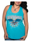 Harley-Davidson Women's Embellished Take Flight Racer Sleeveless Tank Top - Blue